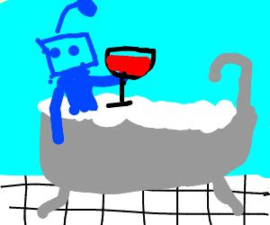 my little blue robot