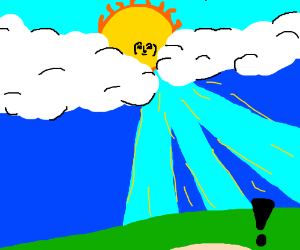 Lenny face on a cloudy sun