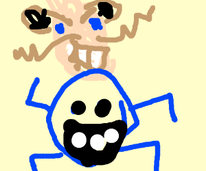 Glitchy Dr. Eggman and Freddy Fazbear hybrid