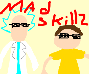 Rick & Morty with mad skills