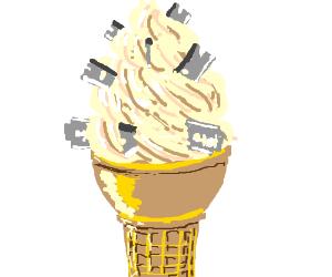 Those aren't sprinkles on the IceCream cone...