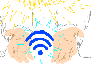 God giving the gift of free Wi-Fi