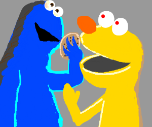 yellmo meets cookie monster