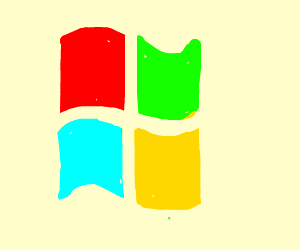 Microsoft  Windows logo, first draft