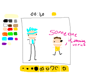 r rick someone is drawing us dont be stupid mo