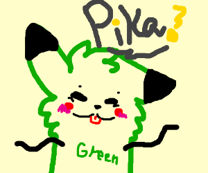 Dancing Green Pikachu