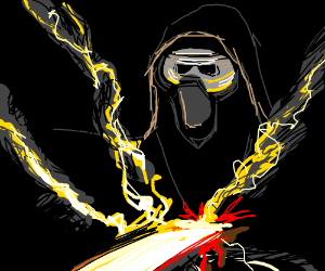 Kylo Ren Stabbed by energy
