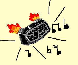 Rocket propelled Bluetooth speaker