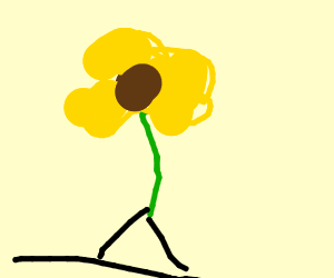 Flower with legs