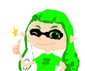 inkling girl tells you good luck