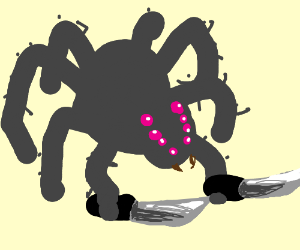 duel-wielding spider