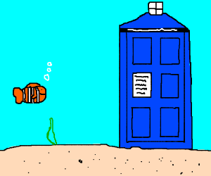 Nemo and blue phone booth