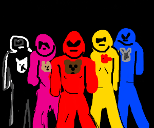 Power Rangers with powers from stuffed animals