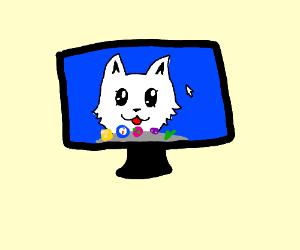 cat screensaver
