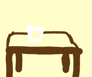 glass cup on a table