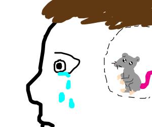 Man cries 'cause rat in his head
