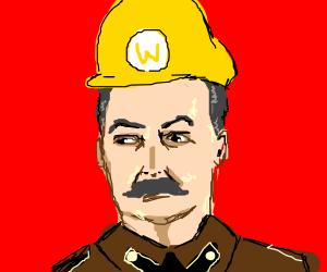 Soviet comrade cosplaying as Wario