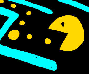 Pacman eating a yellow dot?
