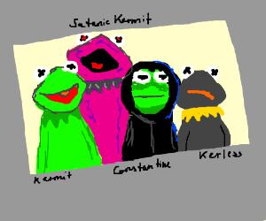 Kermit, Kurple, Constantine and Kerless
