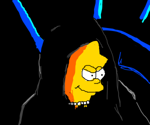 lisa simpson bursts out of emperor palpatine