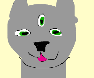 Three eyed demon cat