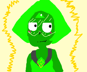 Radioactive peridot