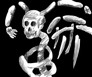 Skeleton creature with skeletal wings