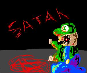 Luigi but satanist