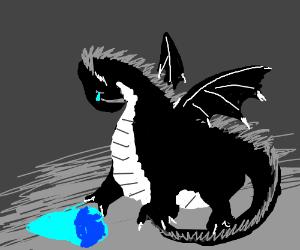 A sad fat dragon with no friends.