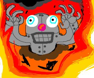 robot mole seeking for destruction of earth