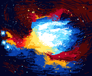Supernova kinda shaped like chicken