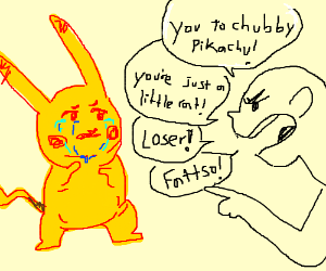 Guy verbally attacks pikachu