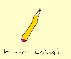 Pencil? Yes! Crying? No!