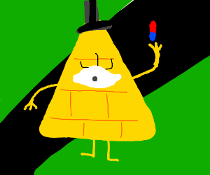 Bill cipher gets his blue-red pill