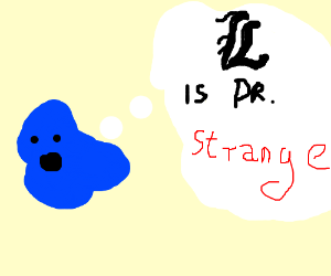 Blue blob saying: I is Dr. Strange