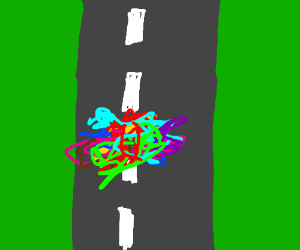Colorful roadkill