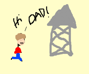 NES's dad is a water tower