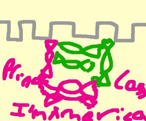 A princandycess in a castle