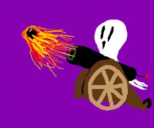 ghost d>>> cannon shoot's fireballs