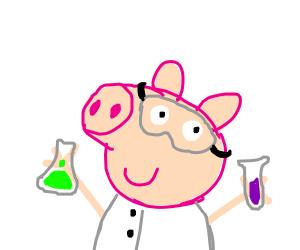 peppa pig doing science!