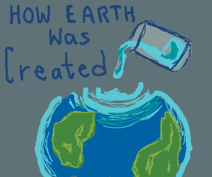 How the Earth was created (blue+green)