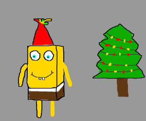 Embarrassing photo spongebob @ Christmas party