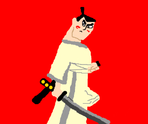 Horny samurai jack