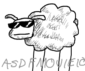 the sheep from asdf movie 10 drawing by icantdraw123