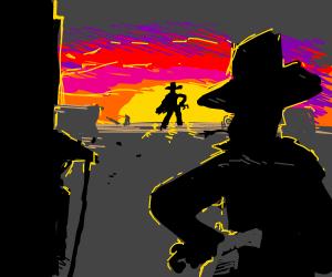 The shootout showdown, set at sundown