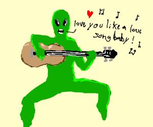 alien sings love music