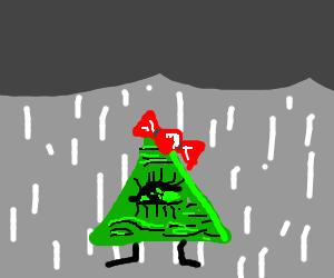 Female illuminati caught in the rain