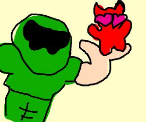 Doomguy loving an imp