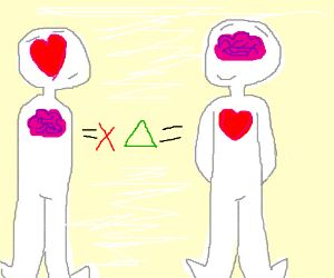A heart where the brain should be