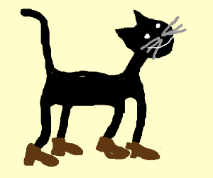 c13c3901bfb5e a cat wearing shoes - Drawception